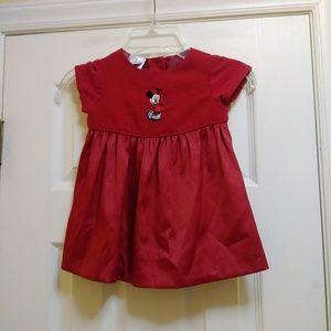 The Disney Store Girls Dress Sz 12 M Red Minnie